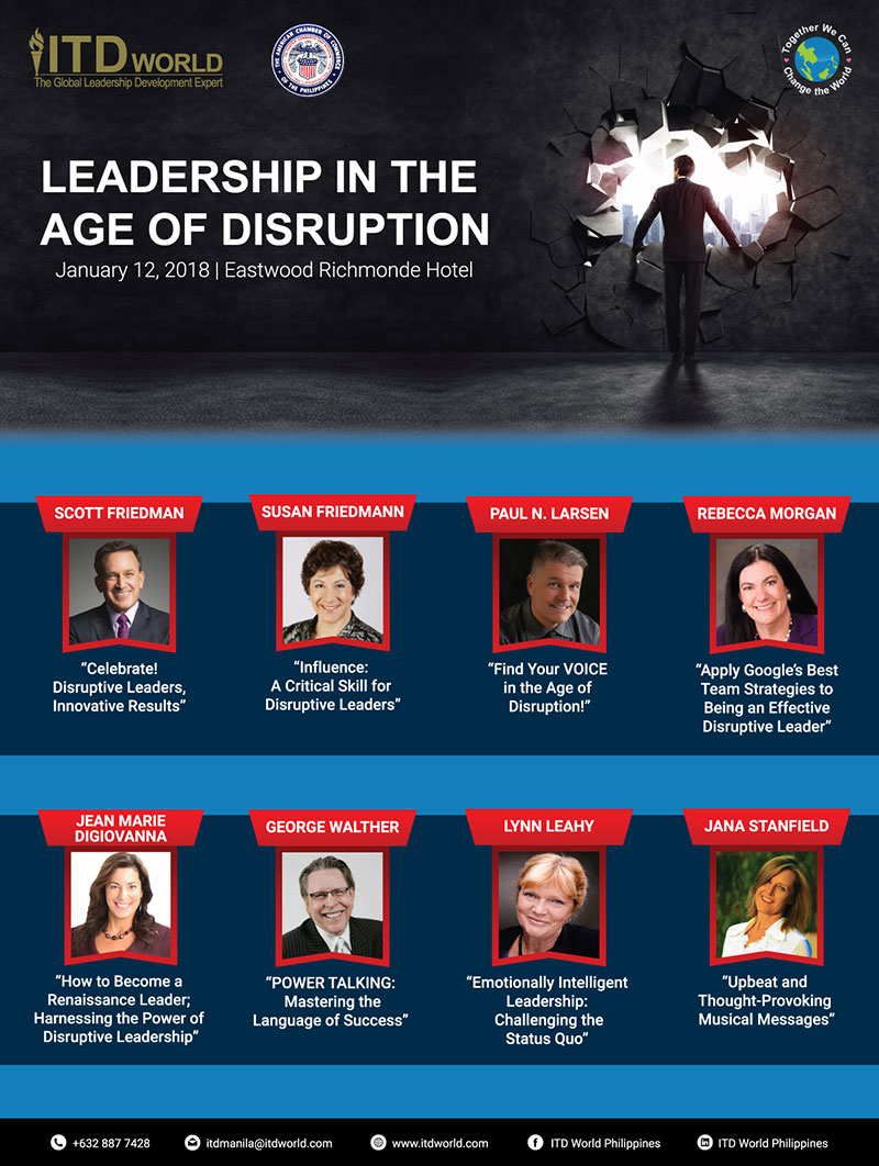 Disruptive Leadership Manila - Jan 2018